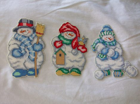 Completed Snowmen