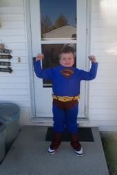 Eric as Superman