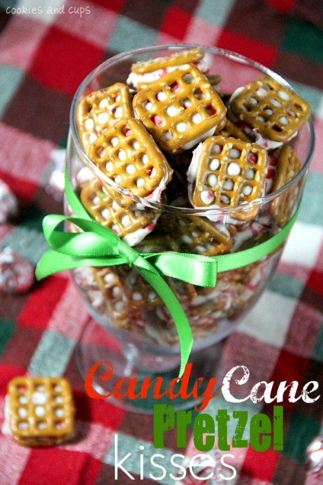 Candy Cane Pretzel Kisses
