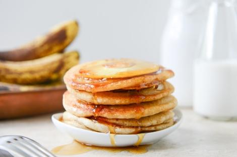 Pineapple Upside Down Banana Pancakes