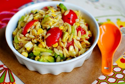 Grilled Corn Orzo Salad