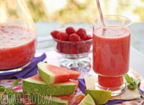 Watermelon-Raspberry Juice