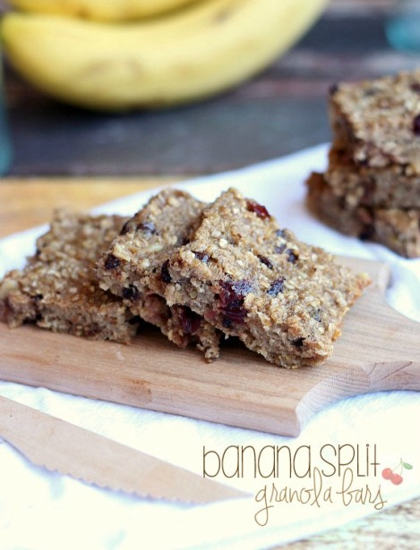 Banana Split Granola Bars
