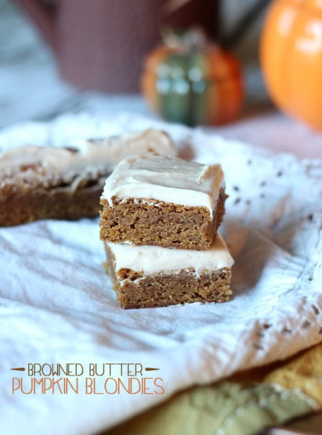 Browned Butter Pumpkin Blondies